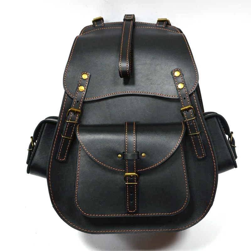 Рюкзак кожаный Black leather