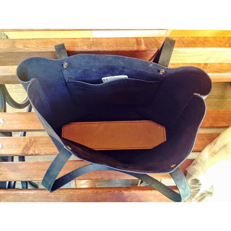 Женская сумка – Shopper Blue leather