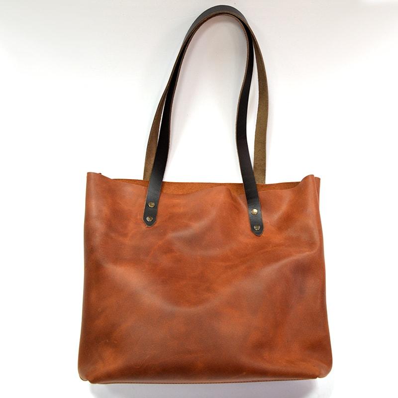 Сумка – мешок женская Brown leather