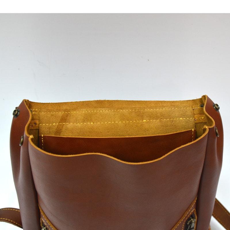 Дизайнерська сумка в подарунок Brown leather
