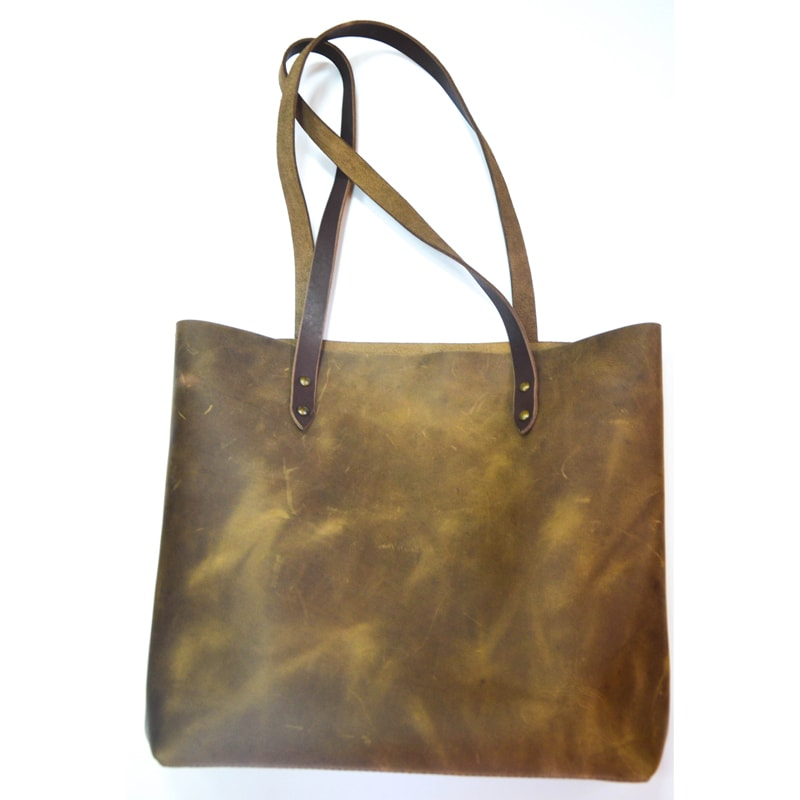 Сумка – шопер жіноча khaki leather