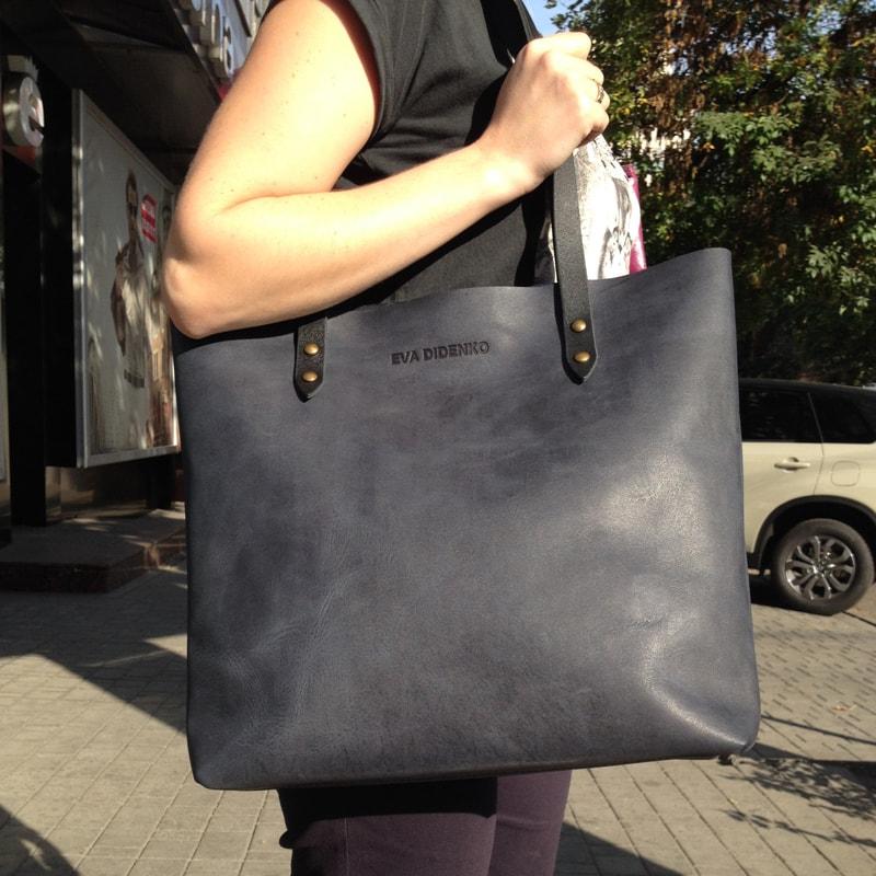 Жіноча сумка – Shopper Blue leather