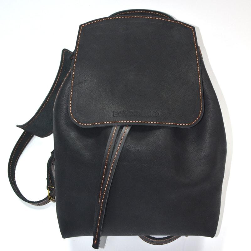 Жіночий рюкзак Handmade Black leather
