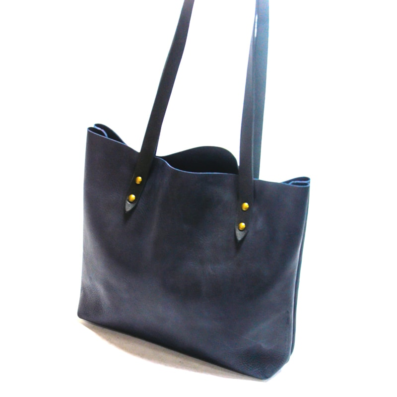 Сумка – шопер Handmade Blue leather