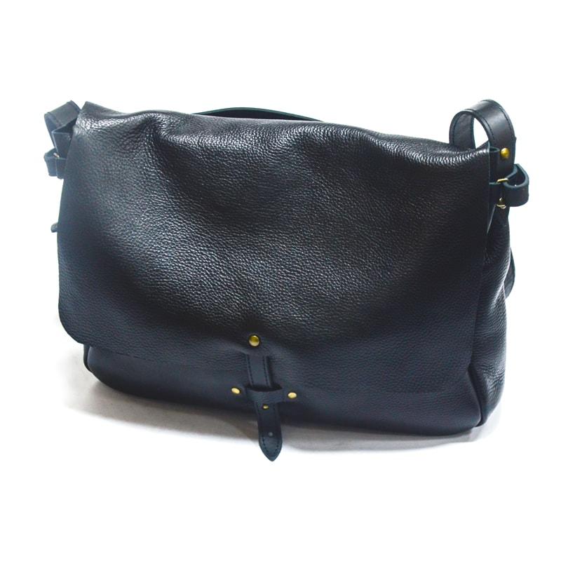 Унисекс кожаная сумка Black leather