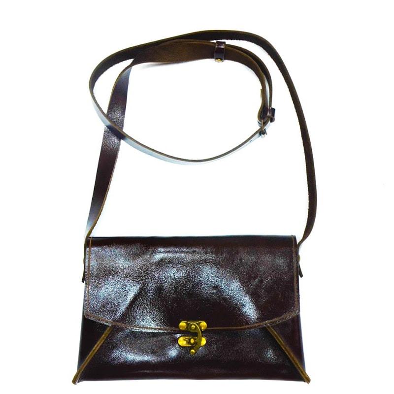 Дизайнерская кожаная женская сумочка Perfection (brown)