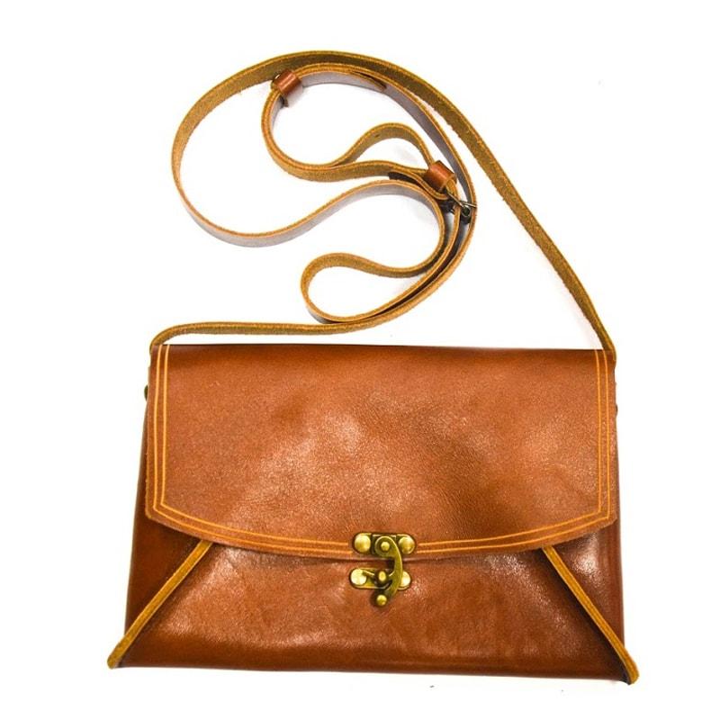 Шкіряна жіноча сумочка Handmade Perfection (light brown)