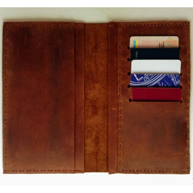 Портмоне дизайнерский ручной работы Вillfold brown leather