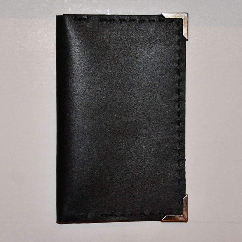Портмоне дизайнерский ручной работы Вillfold black leather