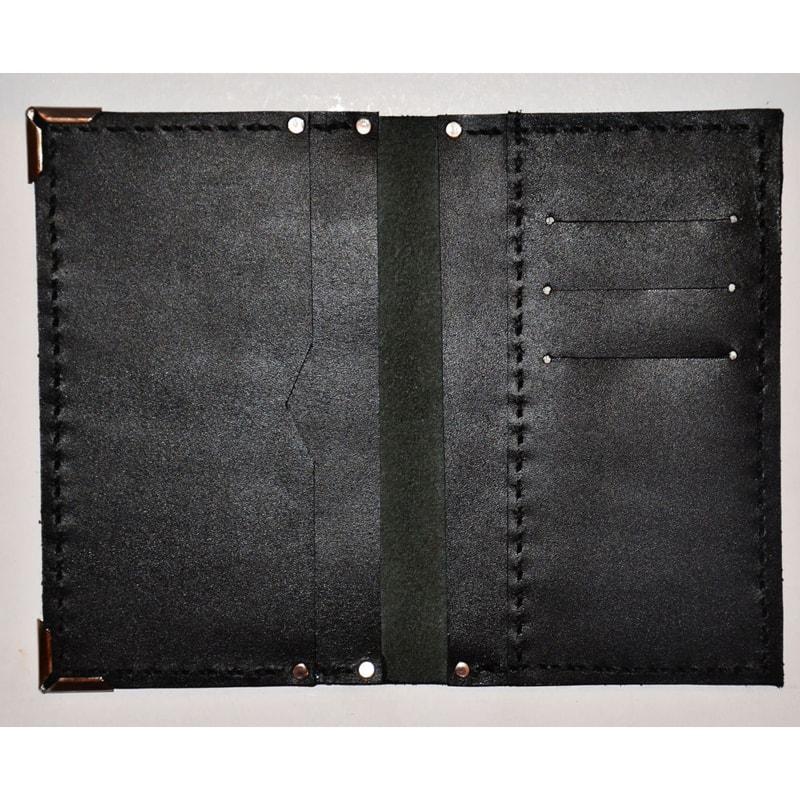 Портмоне дизайнерський ручної роботи Вillfold black leather