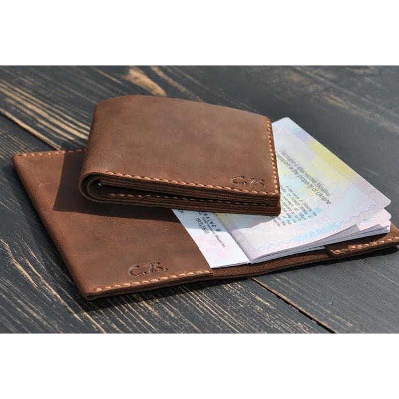 Обкладинка для паспорта і гаманець Vintage leather