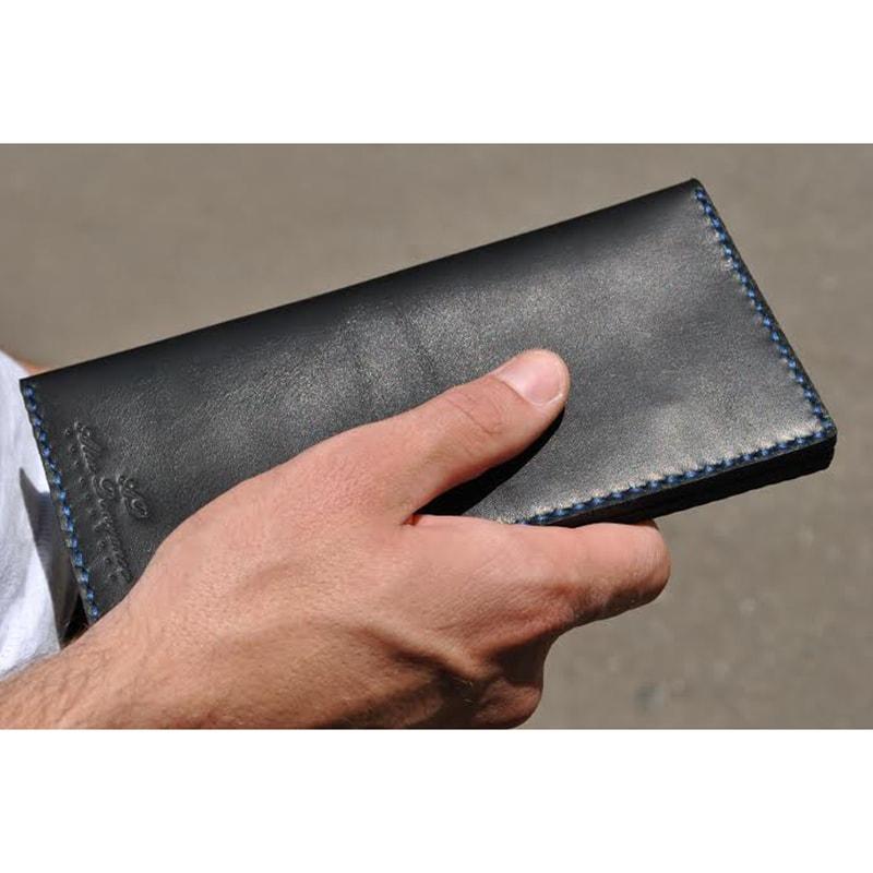 Портмоне из кожи Вlack leather