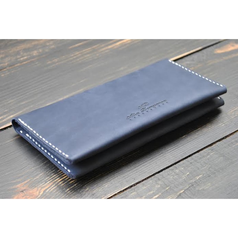 Портмоне кожаное Gray leather