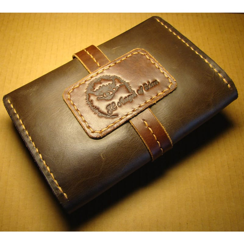 Handmade кошелек Promised Land brown leather