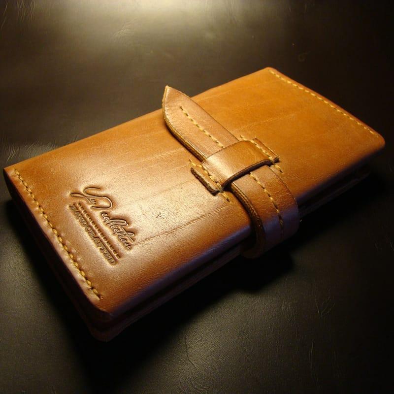 Клатч-портмоне ручной работы brown leather
