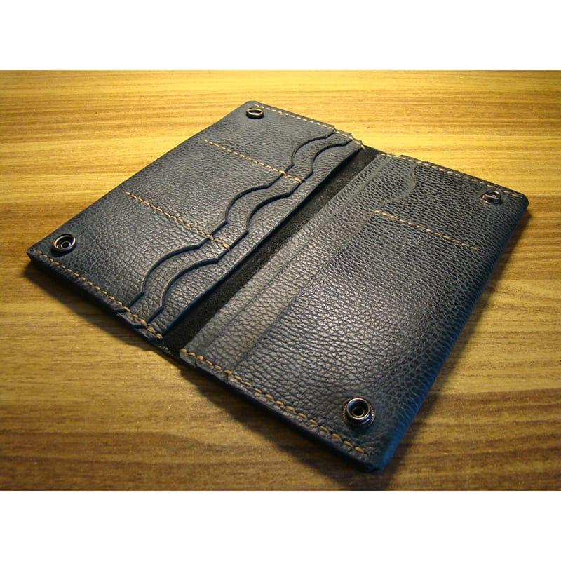 Эксклюзивный бумажник Greenbacks blue leather