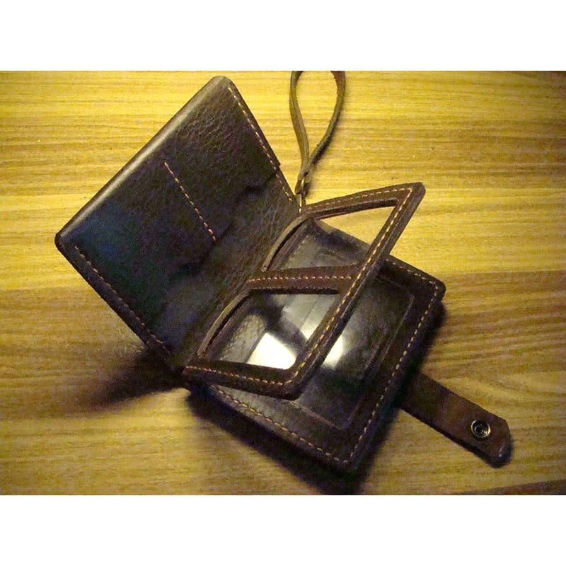 Брендовый кошелек для автолюбителя brown leather