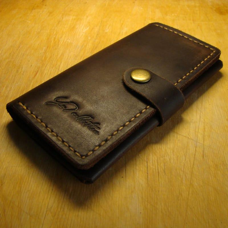Оригінальний хенд мейд гаманець brown leather