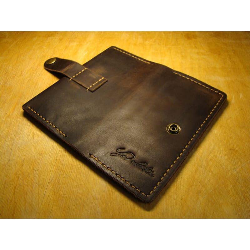 Оригинальный хэнд мейд кошелек brown leather