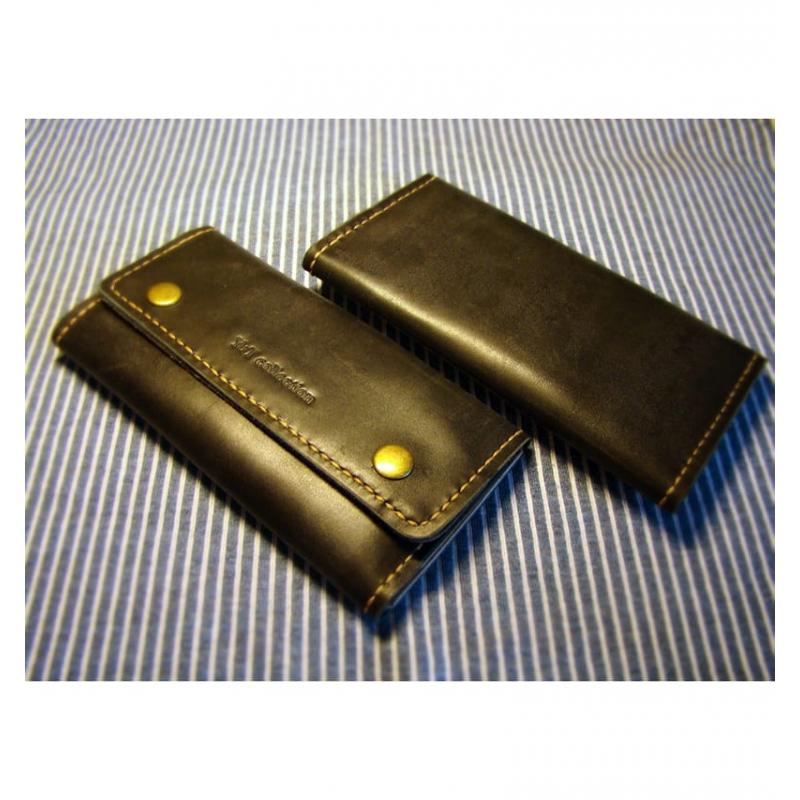 Дизайнерський жіночий портмоне brown leather