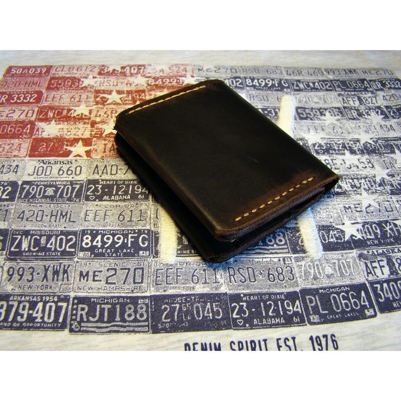 Кожаный портмоне brown leather