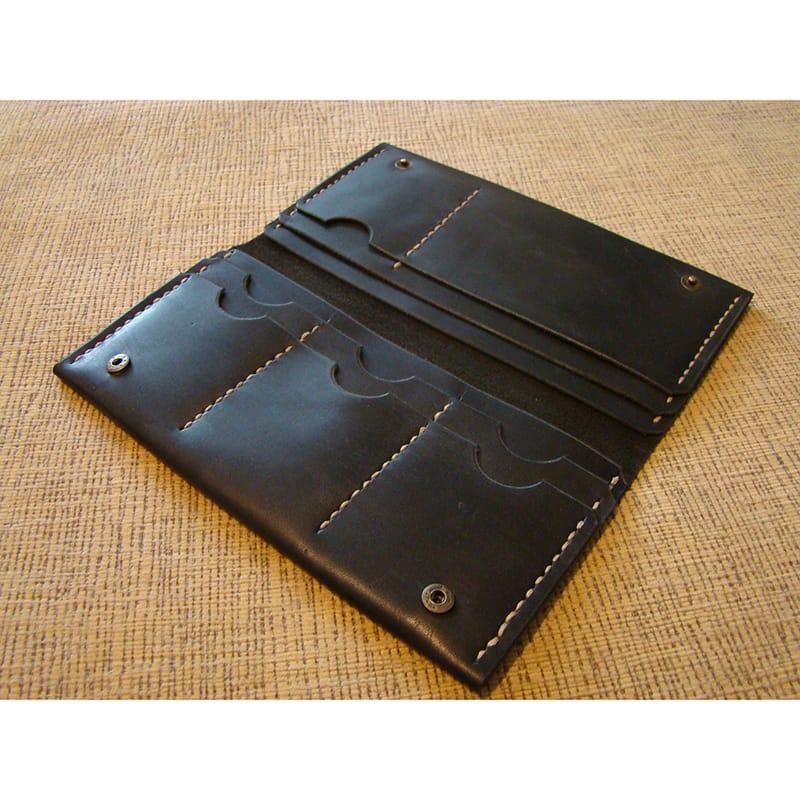 Бумажник натуральной кожи black leather