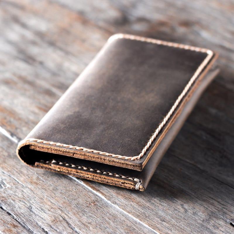Дизайнерский кошелек Smart Wallet brown leather