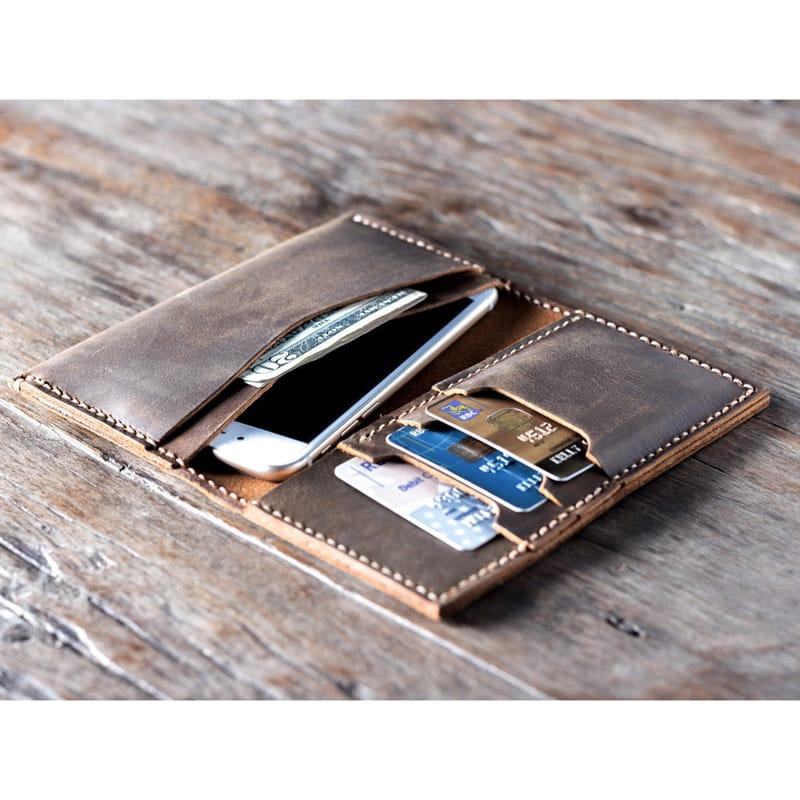 Дизайнерський гаманець Smart brown leather Wallet