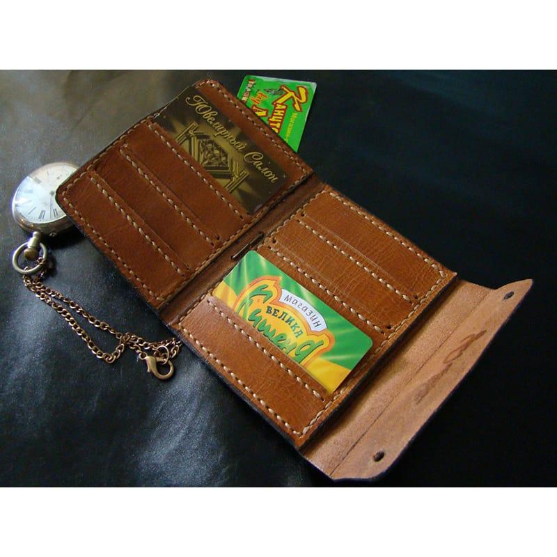 Дизайнерський гаманець Аscet Purse brown leather