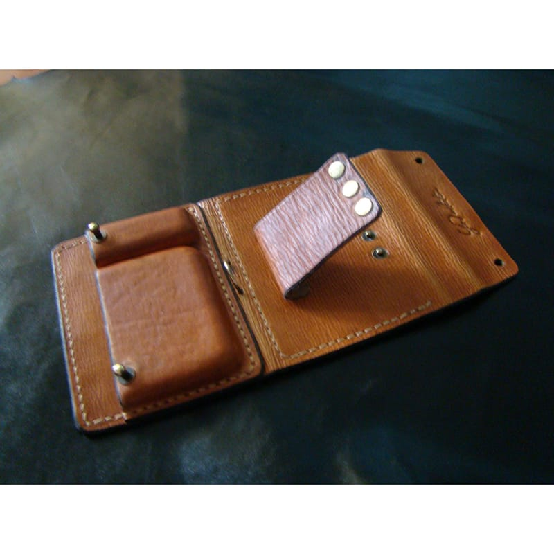 Дизайнерский кошелек Аscet Purse brown leather
