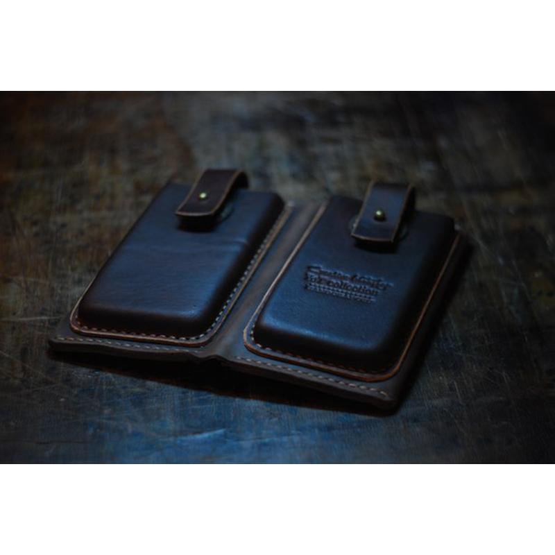 Брендовий портмоне-чохол Blue leather