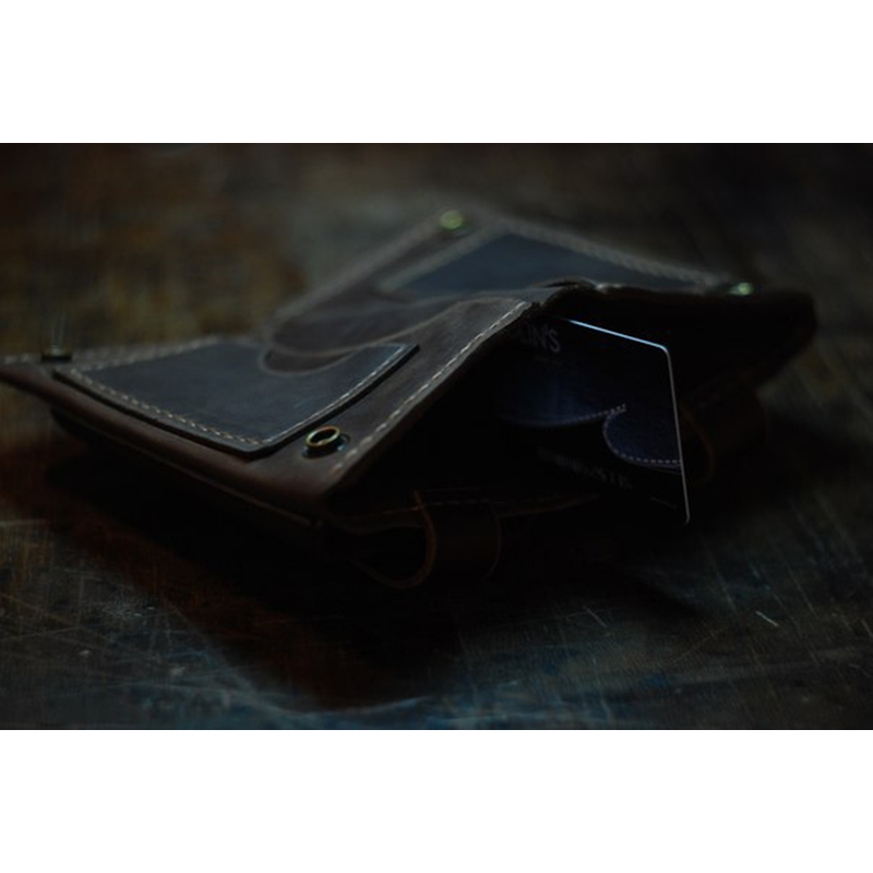 Брендовый портмоне-чехол Blue leather