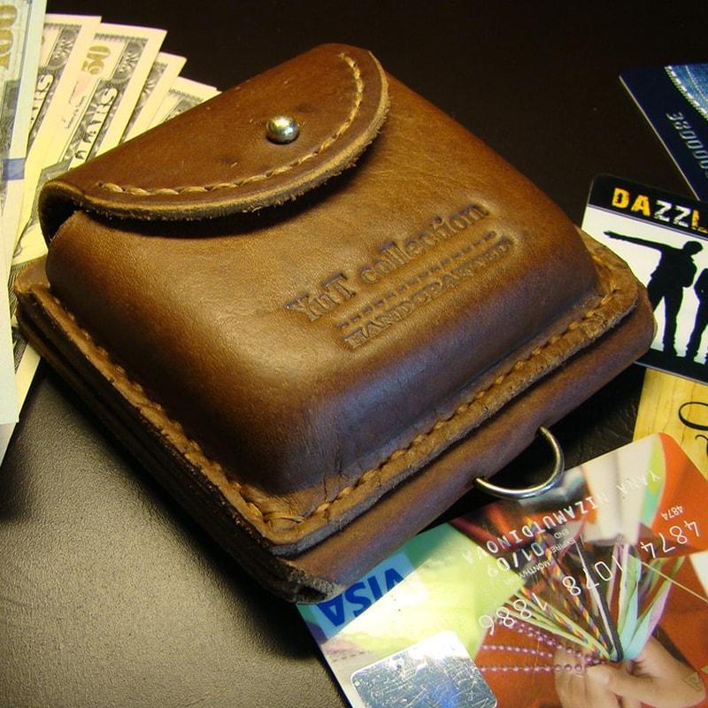 Кожаный кошелек на ремень