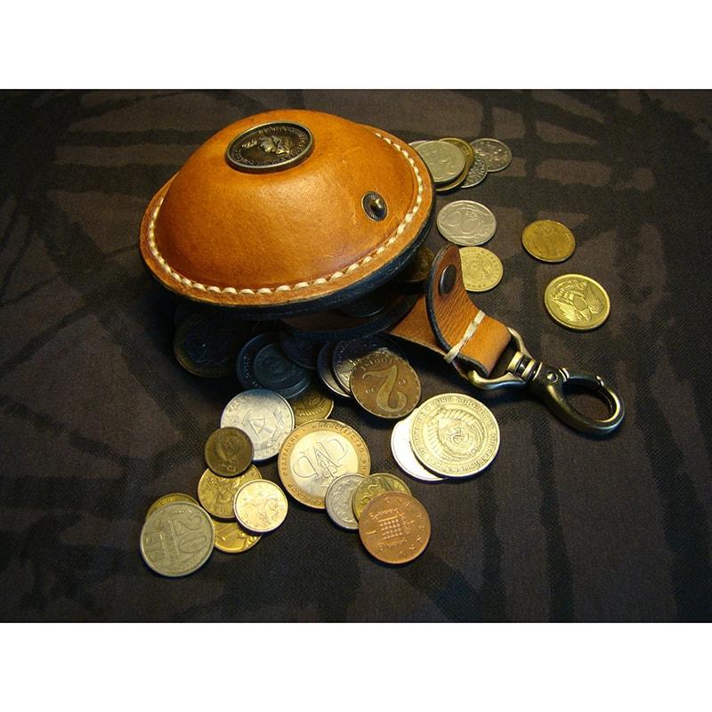 Монетница кожаная на ремень