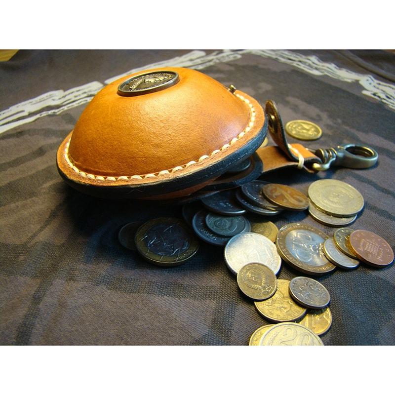 Монетниця шкіряна на ремінь