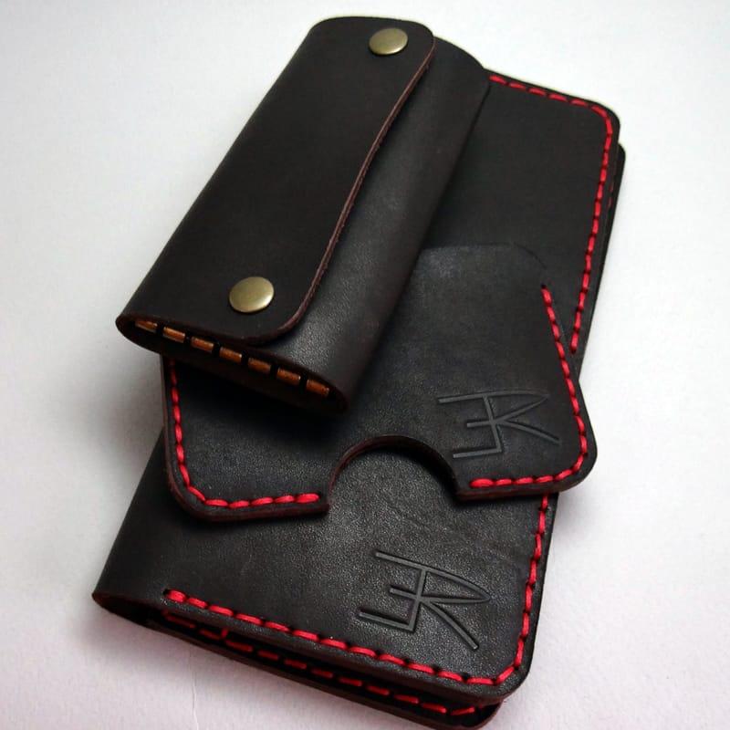 Набор кожаный в подарок мужчине Handmade