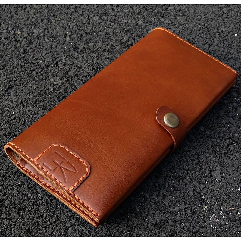 Портмоне чоловіче для подорожей Handmade Brown leather