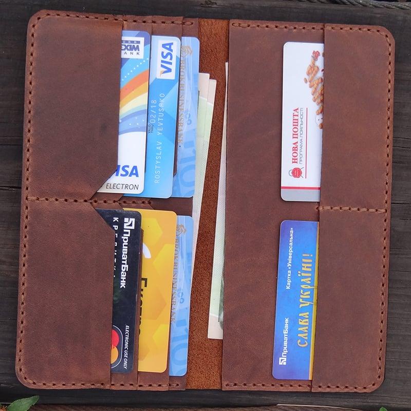 Портмоне мужское в подарок Handmade Vintage leather