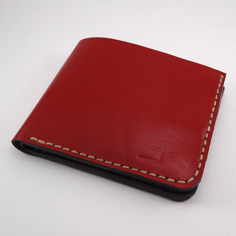 Портмоне мужское ручной работы Handmade red leather