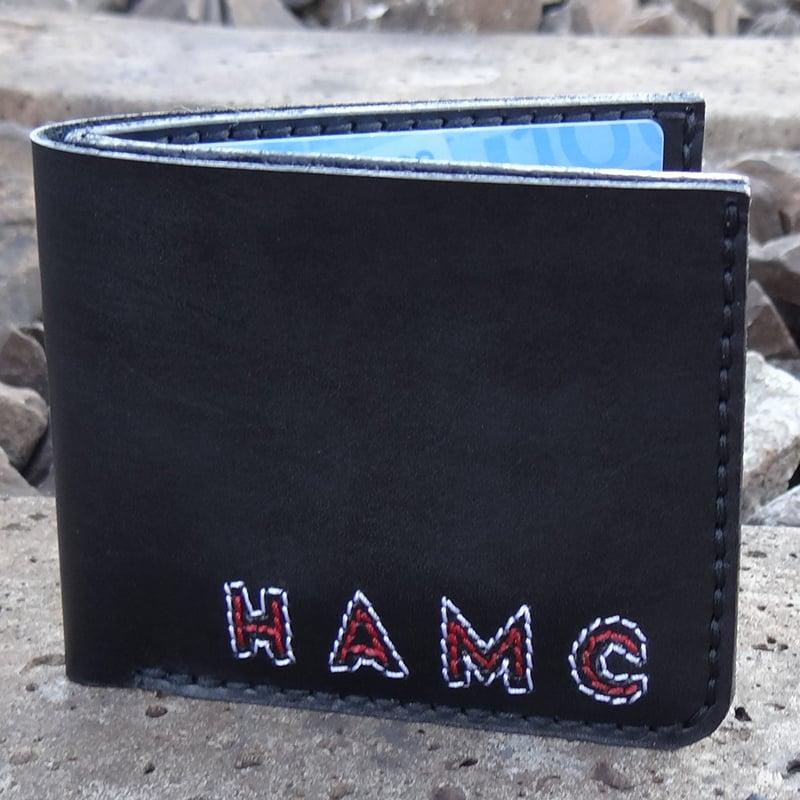 Портмоне мужское ручной работы Handmade black leather