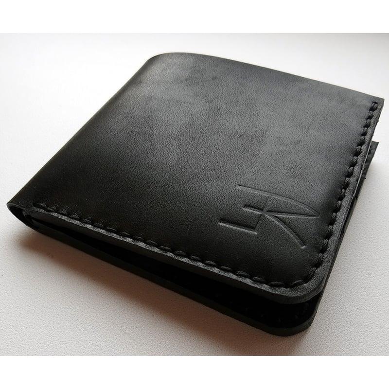 Портмоне чоловіче в подарунок Handmade black leather