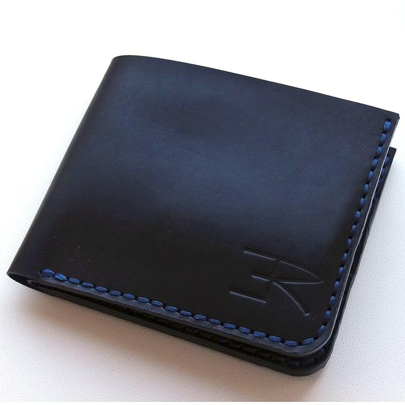 Портмоне кожаное мужское в подарок Handmade black leather