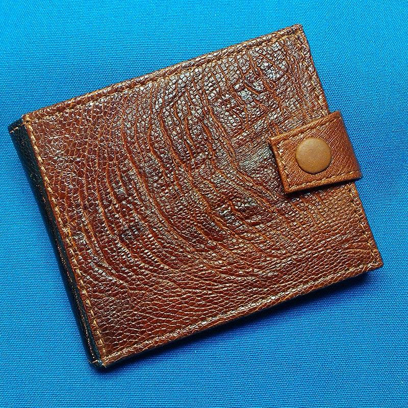 Кошелек кожаный в подарок ELEGANCE ostrich leather