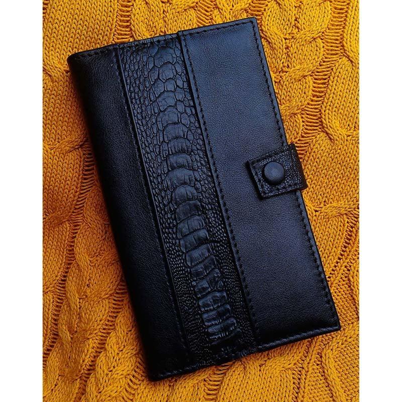 Портмоне кожаное в подарок ELEGANCE ostrich leather