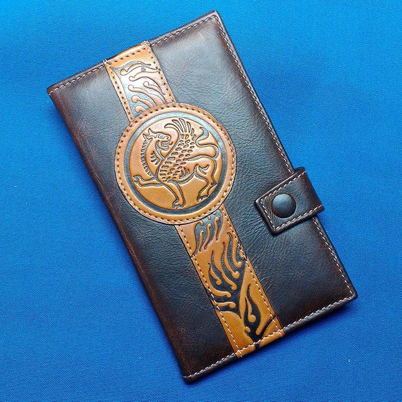 Портмоне в подарок унисекс GRIFFIN brown leather