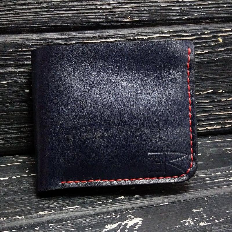 Шкіряне портмоне Purse Contrast black leather