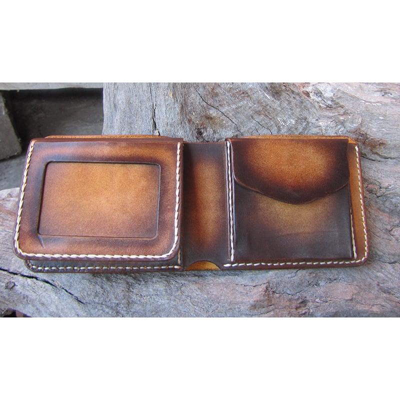Кожаное портмоне Purse Grant Вrown leather