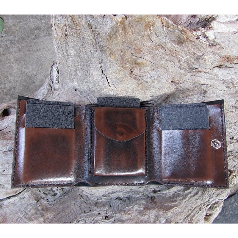 Кожаное портмоне Purse Рermit Вrown leather