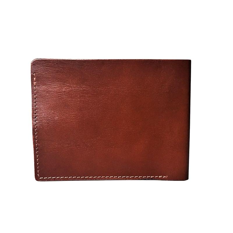 Кожаный мужской кошелек Purse Horses brown leather