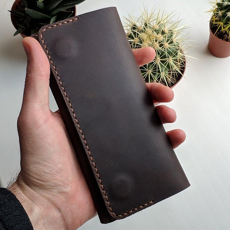 Кожаное портмоне Purse Chocolate brown leather